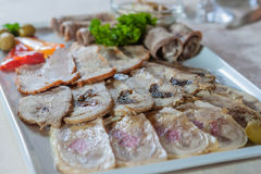 Appetizing cold cuts Royalty Free Stock Image