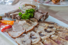 Appetizing cold cuts Stock Images
