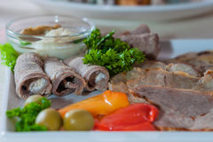 Appetizing cold cuts Royalty Free Stock Photo