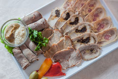 Appetizing cold cuts Stock Photos