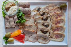 Appetizing cold cuts Royalty Free Stock Images