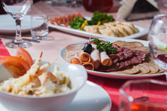 Appetizing cold cuts Stock Photography