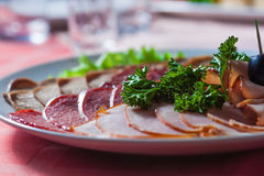 Appetizing cold cuts Royalty Free Stock Photos