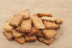 Appetizing  cookies with sesame seeds Royalty Free Stock Image
