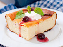 Appetizing cottage cheese casserole Royalty Free Stock Image
