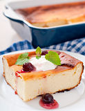 Appetizing cottage cheese casserole Stock Photography