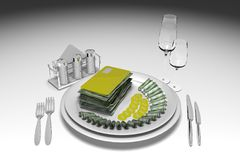 The appetizing credit. Computer graphics on the theme of finance and business Vector Illustration
