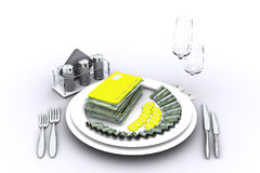 The appetizing credit. Computer graphics on the theme of finance and business Royalty Free Illustration