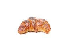 Appetizing croissant with poppy. Royalty Free Stock Photography