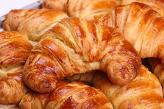 Appetizing croissants. On a white background Stock Photo
