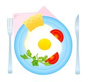 Appetizing delicious fried eggs Stock Image