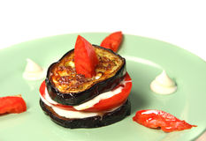 Appetizing  food of aubergine Royalty Free Stock Images