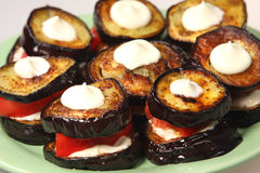 Appetizing  food - aubergines Stock Images