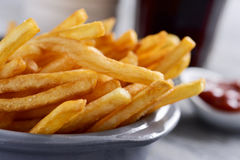 Appetizing french fries in a metal basket Stock Image