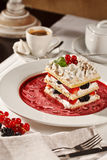 Appetizing french millefeuille dessert Stock Photography