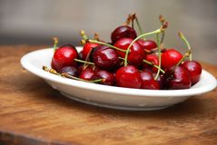 Appetizing fresh cherries Royalty Free Stock Images