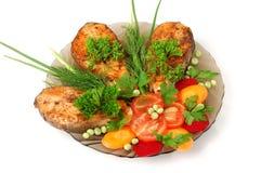 Free Appetizing Fried Salmon Stock Photography - 936512