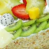 Appetizing fruit pie Stock Photography