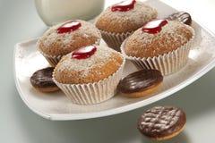 Appetizing fruitcakes Stock Image