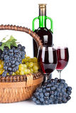 Appetizing grapes in a basket Royalty Free Stock Images