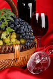 Appetizing grapes in a basket Royalty Free Stock Photography