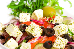 Appetizing greek salad Stock Photos