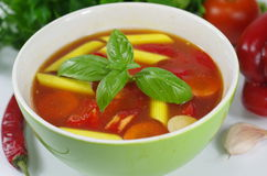 Appetizing gulash soup Royalty Free Stock Photo
