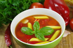 Appetizing gulash soup Stock Photo