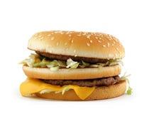 Appetizing hamburger Stock Images
