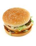 Appetizing hamburger on white Stock Images