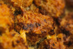 Appetizing handmade roast rissole with cheese Stock Images