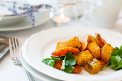 Appetizing and healthy vegetarian food Stock Photography