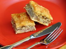 Appetizing homemade pie Stock Photo