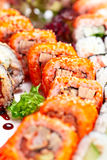 Appetizing Japanese sushi Royalty Free Stock Images