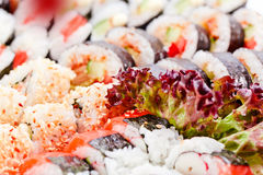 Appetizing Japanese sushi Royalty Free Stock Photos
