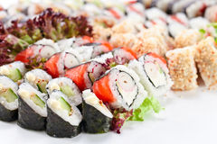 Appetizing Japanese sushi Stock Photo