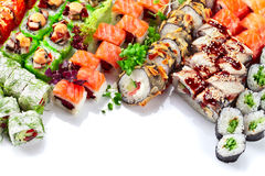 Appetizing Japanese sushi Royalty Free Stock Photo