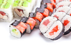 Appetizing Japanese sushi Stock Photos