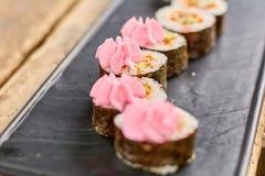 Appetizing japanese sushi tokobana. stock images