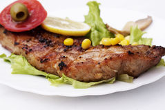 Appetizing juicy fried meat royalty free stock images