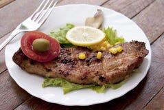 Appetizing Juicy Fried Meat Stock Photo
