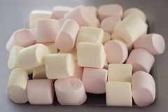 Appetizing marshmallows on the plate Royalty Free Stock Image
