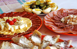 Appetizing meat dishes Stock Image