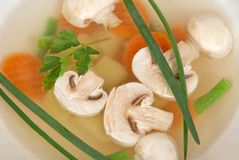 Appetizing mushroom soup Stock Photography
