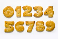 Appetizing numerals Stock Image