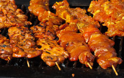 Appetizing outside Chicken barbeque Stock Images