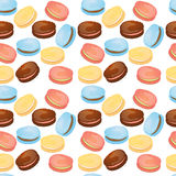Appetizing pattern with macaroons vector illustration