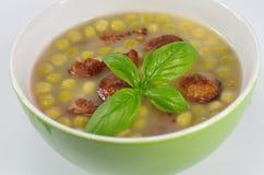 Appetizing pea soup Stock Photos