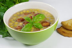 Appetizing pea soup Stock Photography