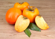 Appetizing persimmons Royalty Free Stock Images